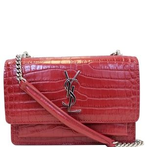 YVES SAINT LAURENT SUNSET CROCODILE-EMBOSSED